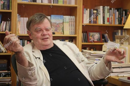 "Garrison Keillor, creator and former host of, ""A Prairie Home Companion,"" talks at his St. Paul, Minn., office. Now that he has hung up his microphone as host of his popular public radio show, Keillor, who turns 75 this month, will embark on a 28-city ""Prairie Home Love & Comedy Tour 2017,"" which he vows will be his last"