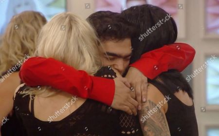 Karthik Nagesan reacts to Marissa's eviction and hugs Amelia Lily Oliver and Jemma Lucy