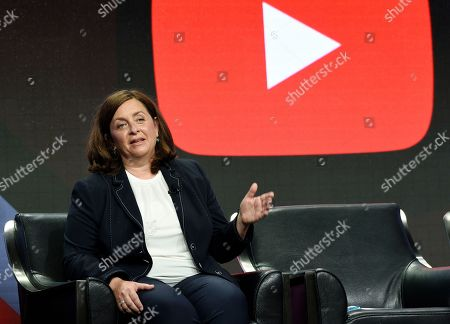 YouTube Global Head of Original Content Susanne Daniels answers questions from reporters during the 2017 Television Critics Association Summer Press Tour at the Beverly Hilton, in Beverly Hills, Calif