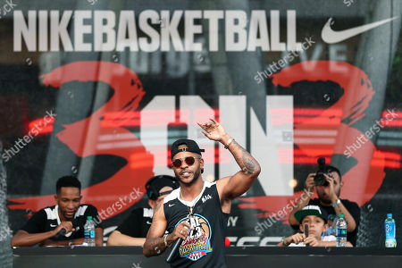 Eric Bellinger attends the 2017 Nike Basketball 3ON3 Tournament: Celebrity Basketball Game held at L.A. Live, in Los Angeles