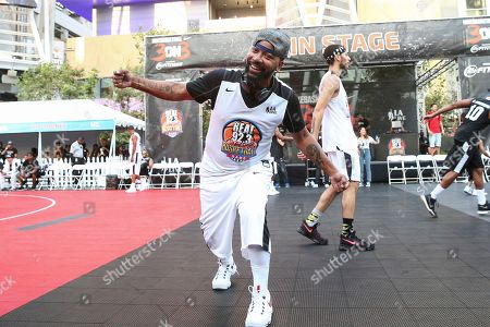 Columbus Short attends the 2017 Nike Basketball 3ON3 Tournament: Celebrity Basketball Game held at L.A. Live, in Los Angeles