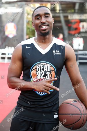 Demetrius Shipp Jr. attends the 2017 Nike Basketball 3ON3 Tournament: Celebrity Basketball Game held at L.A. Live, in Los Angeles