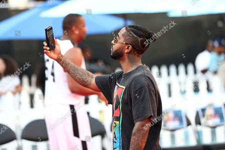 Omarion attends the 2017 Nike Basketball 3ON3 Tournament: Celebrity Basketball Game held at L.A. Live, in Los Angeles