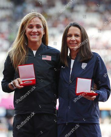 Kara Goucher and Joanne Pavey