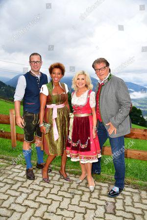 Arabella Kiesbauer and Florens Eblinger mit Marianne and Michael