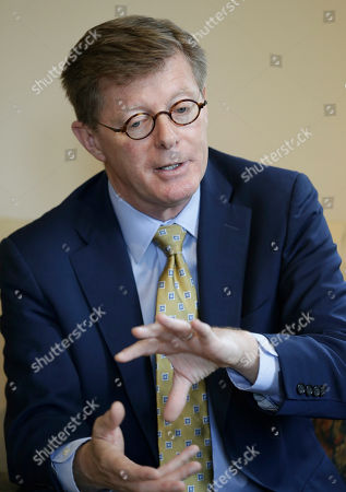 Duke University president Vincent Price responds to questions during an interview in Durham, N.C