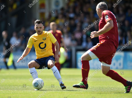 Jake Gosling of Torquay United competes for the ball with Steve McNulty of Tranmere Rovers, Vanarama National League match between Torquay United and Tranmere Rovers on Saturday 5th August 2017 at Plainmoor, Torquay, Devon