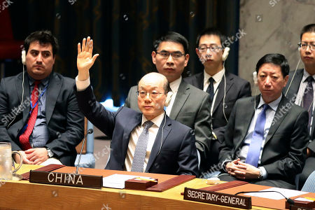 Liu Jieyu Chinese Ambassador to the United Nations Liu Jieyi votes during a Security Council meeting on a new sanctions resolution that would increase economic pressure on North Korea to return to negotiations on its missile program, at U.N. headquarters