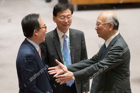 Cho Tae-yul, Koro Bessho South Korean Ambassador to the United Nations Cho Tae-yul, left, speaks to Japanese Ambassador Koro Bessho before a Security Council vote on a new sanctions resolution that would increase economic pressure on North Korea to return to negotiations on its missile program, at U.N. headquarters