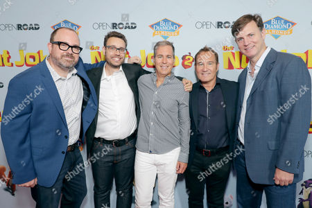 Stock Photo of Cal Brunker, Director/Writer/Actor, Bob Barlen, Writer/Producer/Actor, Scott Bindley, Writer, Bill Bindley, Producer, Mike Karz, Producer,