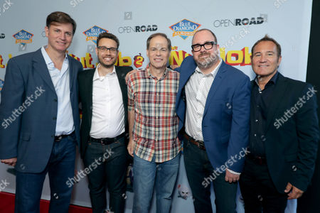 Mike Karz, Producer, Bob Barlen, Writer/Producer/Actor, Tom Ortenberg, Chief Executive Officer of Open Road Films, Cal Brunker, Director/Writer/Actor, Bill Bindley, Producer,