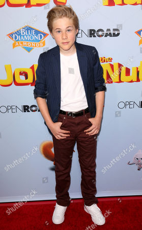 """Casey Simpson arrives at the LA Premiere of """"The Nut Job 2: Nutty by Nature"""", in Los Angeles"""