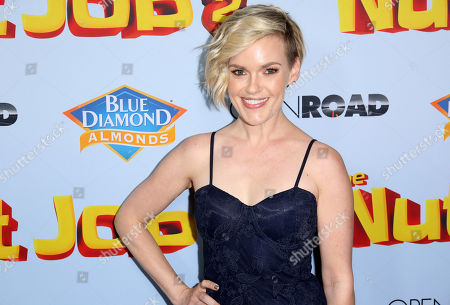 """Stock Image of Kari Wahlgren arrives at the LA Premiere of """"The Nut Job 2: Nutty by Nature"""", in Los Angeles"""