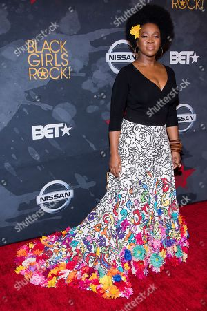 India Arie attends the Black Girls Rock! Awards at the New Jersey Performing Arts Center, in Newark, N.J