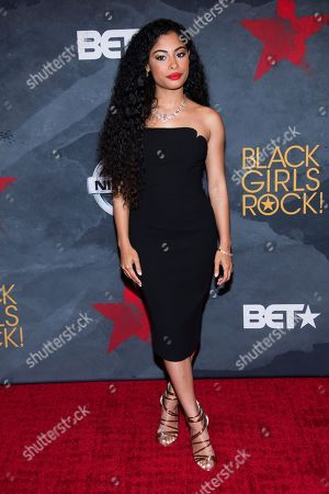 Katlynn Simone attends the Black Girls Rock! Awards at the New Jersey Performing Arts Center, in Newark, N.J