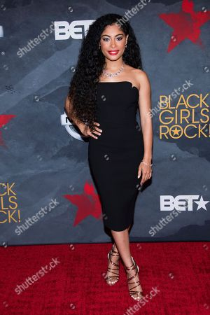 Stock Photo of Katlynn Simone attends the Black Girls Rock! Awards at the New Jersey Performing Arts Center, in Newark, N.J