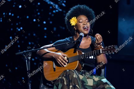 India Arie performs at the Black Girls Rock! Awards at the New Jersey Performing Arts Center, in Newark, N.J
