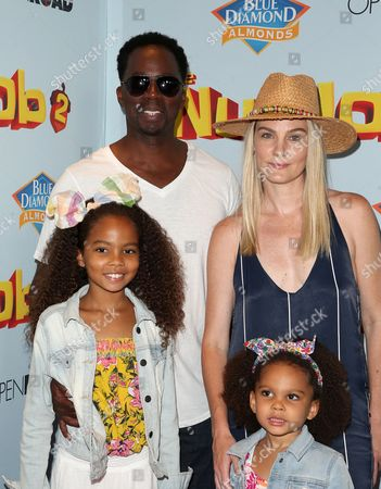 Stock Photo of Harold Perrineau, Brittany Perrineau, Wynter Aria Perrineau, Holiday Grace Perrineau