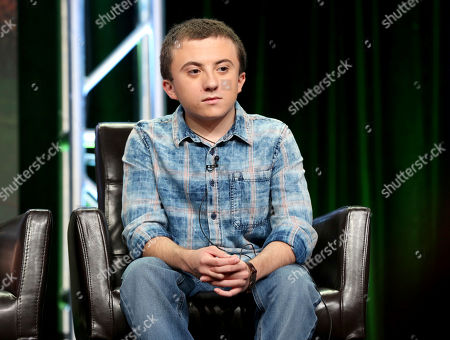 """Atticus Shaffer participates in the """"The Middle"""" panel during the Disney ABC Television Critics Association Summer Press Tour at the Beverly Hilton, in Beverly Hills, Calif"""