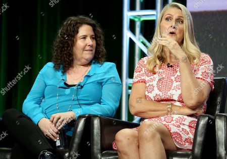 """Eileen Heisler, Deann Heline Creators and Executive Producers Eileen Heisler, left, and Deann Heline participate in the """"The Middle"""" panel during the Disney ABC Television Critics Association Summer Press Tour at the Beverly Hilton, in Beverly Hills, Calif"""