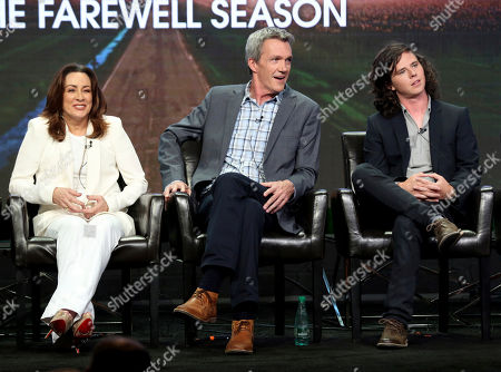 """Stock Photo of Patricia Heaton, Neil Flynn, Charlie McDermott Patricia Heaton, from left, Neil Flynn and Charlie McDermott participate in the """"The Middle"""" panel during the Disney ABC Television Critics Association Summer Press Tour at the Beverly Hilton, in Beverly Hills, Calif"""