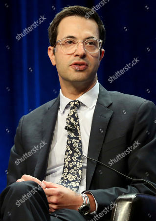 """Stock Image of Edward Kitsis participates in the """"Once Upon A Time"""" panel during the Disney ABC Television Critics Association Summer Press Tour at the Beverly Hilton, in Beverly Hills, Calif"""