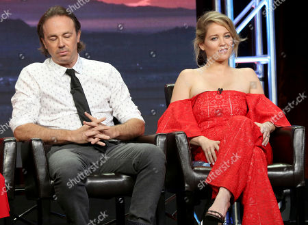"""Stock Image of Kick Gurry, Erika Christensen Kick Gurry, left, and Erika Christensen participate in the """"Ten Days In The Valley"""" panel during the Disney ABC Television Critics Association Summer Press Tour at the Beverly Hilton, in Beverly Hills, Calif"""