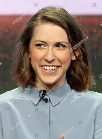"""Eden Sher participates in the """"The Middle"""" panel during the Disney ABC Television Critics Association Summer Press Tour at the Beverly Hilton, in Beverly Hills, Calif"""