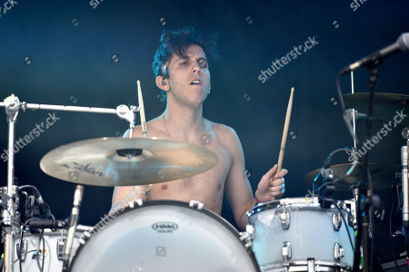 Stock Picture of Ryan Rabin of Grouplove performs on day four at Lollapalooza in Grant Park on in Chicago