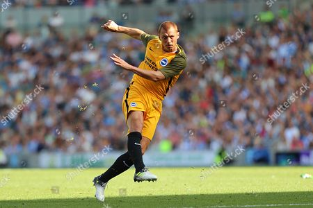 Brighton and Hove Albion midfielder Steve Sidwell (14) during the Pre-Season Friendly match between Brighton and Hove Albion and Atletico Madrid at the American Express Community Stadium, Brighton and Hove