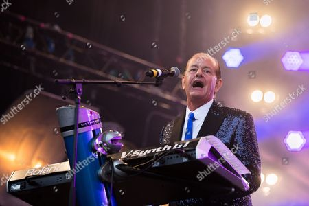 Stock Image of Martyn Ware of the British Electric Foundion performs