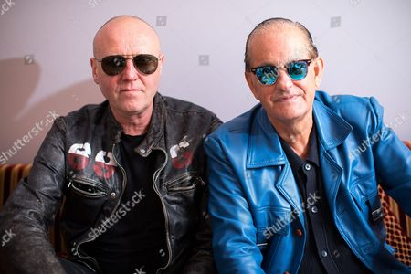 Glenn Gregory of Heaven 17 and Martyn Ware, both of the British Electric Foundion