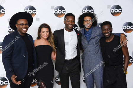 Lea Michele and Brandon Micheal Hall, Bernard David Jones, Marcel Spears and Daveed Diggs