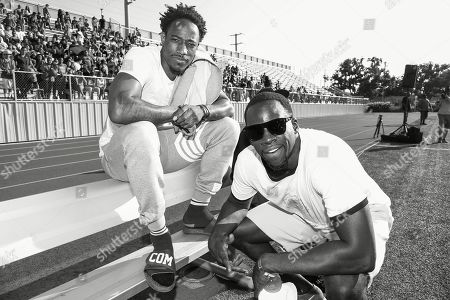 DeMar DeRozan, Draymond Green DeMar DeRozan, left, and Draymond Green attend the 4th Annual Athletes vs Cancer Celebrity Flag Football Game held at John Burroughs High School, in Burbank, Calif