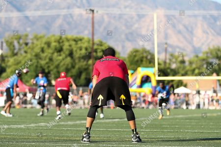Jordan Clarkson attends the 4th Annual Athletes vs Cancer Celebrity Flag Football Game held at John Burroughs High School, in Burbank, Calif