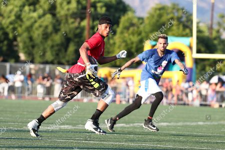 Keith Powers attends the 4th Annual Athletes vs Cancer Celebrity Flag Football Game held at John Burroughs High School, in Burbank, Calif