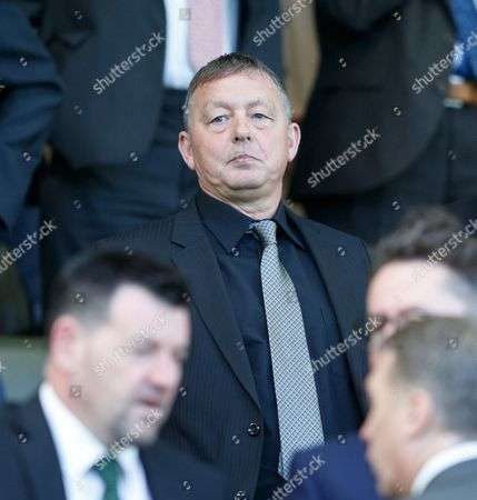 Stock Picture of Billy Davies in the directors box