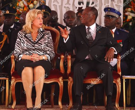 Alassane Ouattara and Dominique Folloroux-Ouattara