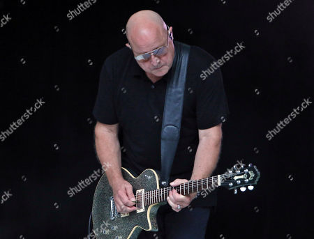 Steve Marker with Garbage performs during Blondie & Garbage: The Rage and Rapture Tour at Chastain Park Amphitheatre, in Atlanta