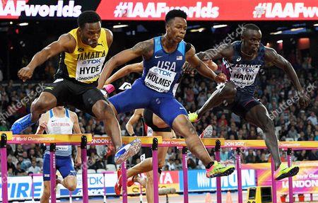 Jaheel Hyde, TJ Holmes and Mamadou Kasse Hann