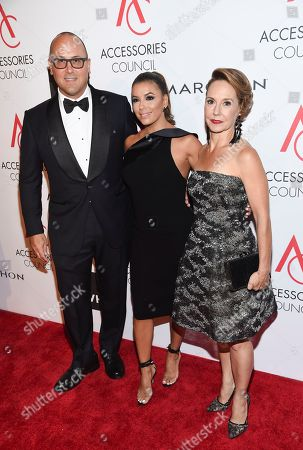 Frank Zambrelli, Eva Longoria, Karen Giberson Accessories Council chairman Frank Zambrelli, left, honoree Eva Longoria and Accessories Council president Karen Giberson pose together at the 21st Annual ACE Awards hosted by the Accessories Council at Cipriani 42nd Street, in New York