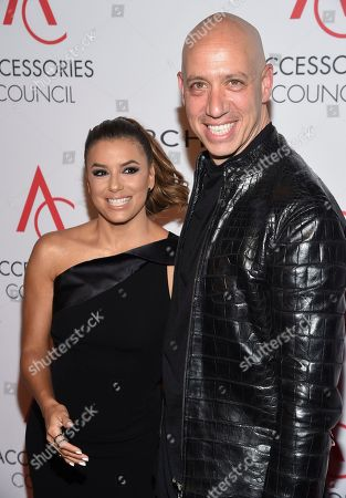 Eva Longoria, Robert Verdi Eva Longoria, left, and stylist Robert Verdi attend the 21st Annual ACE Awards hosted by the Accessories Council at Cipriani 42nd Street, in New York