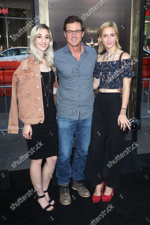 Stock Image of Eric Close and daughters