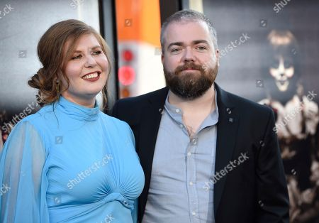 """David F. Sandberg, Lotta Losten Director David F. Sandberg, left, and Lotta Losten arrive at the Los Angeles premiere of """"Annabelle: Creation"""" at the TCL Chinese Theatre on"""