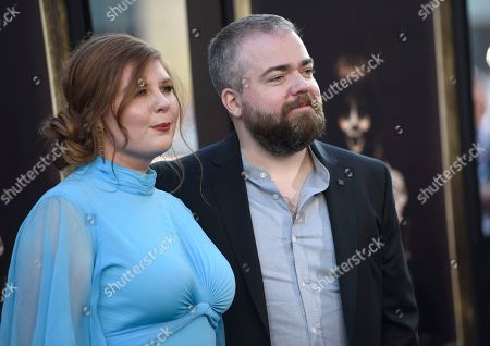 """David F. Sandberg, Lotta Losten Director David F. Sandberg, right, and Lotta Losten arrive at the Los Angeles premiere of """"Annabelle: Creation"""" at the TCL Chinese Theatre on"""
