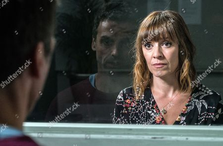 Ep 7915 Tuesday 22nd August 2017 Rhona Goskirk, as played by Zoe Henry, insists she needs to visit Pierce Harris, as played by Jonathan Wrather, in prison. But will it help and will it give her closure?