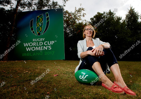 eir Sport Unveil Their Broadcast Team For The Women's Rugby World Cup 2017, UCD, Dublin 8/8/2017. Pictured at the unveiling of the eir Sport broadcast team for its coverage of Women?s Rugby World Cup 2017 were Former Ireland Head Coach Eddie O?Sullivan, recently retired Ireland international Tania Rosser, eir Sport presenters Connor Morris and Des Curran, former Ireland international Sarah Jane Belton and current Ireland international Kim Flood. Rugby lovers will not miss a single minute of the action as eir Sports? coverage of Women?s Rugby World Cup 2017 features every game from the tournament including all Irish games and the final. Ireland?s pool games in the UCD Bowl, Dublin against Australia on 9th August, Japan on 13th August and France on 17th August will all be live on eir Sport. Pictured today is Sarah Jane Belton