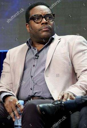 """Chad L. Coleman participates in the """"The Orville"""" panel during the FOX Television Critics Association Summer Press Tour at the Beverly Hilton, in Beverly Hills, Calif"""