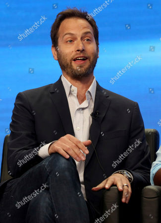 """Dan Goor participates in the """"Tuesday Twosomes (Lethal Weapon, The Mick and Brooklyn Nine-Nine)"""" panel during the FOX Television Critics Association Summer Press Tour at the Beverly Hilton, in Beverly Hills, Calif"""