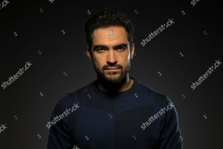 "Alfonso Herrera, a cast member in the FOX series ""The Exorcist,"" poses for a portrait during the 2017 Television Critics Association Summer Press Tour at the Beverly Hilton, in Beverly Hills, Calif"
